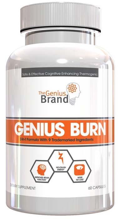 A small bottle of GENIUS BURN Fat Burner