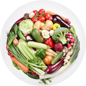 An image of fruits and vegetables having vitamin B6 & B12