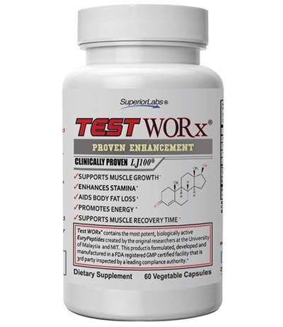 A large image of a jar of Superior Labs Test Worx Natural.