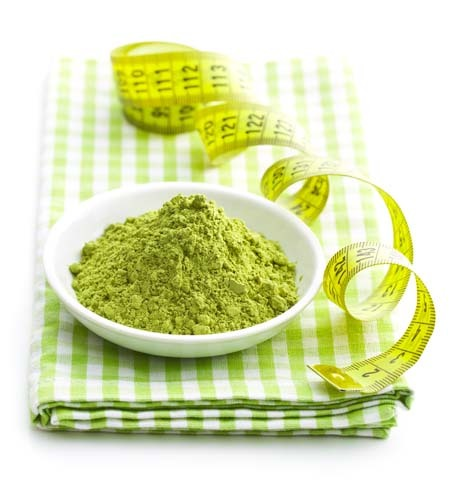 An image of matcha tea, that contains up to five times as much L-theanine as regular green tea, therefore it is one of the best sources of theanine.