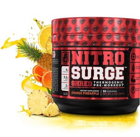 A large image of NITROSURGE SHRED pre workout fat burner