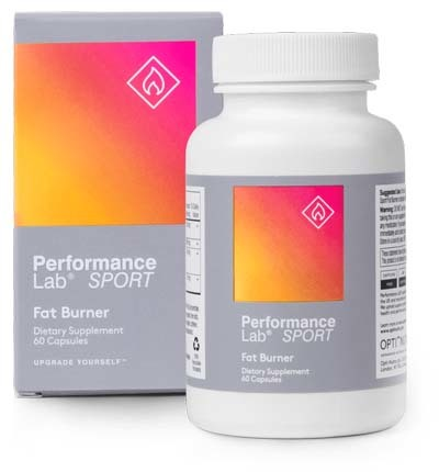 A large image of Performance Lab Sport Fat Burner bottle with box