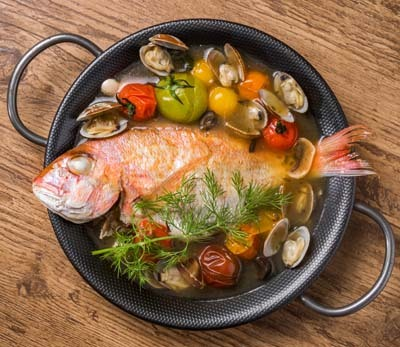 An image of Red Snapper cooked in Italian style