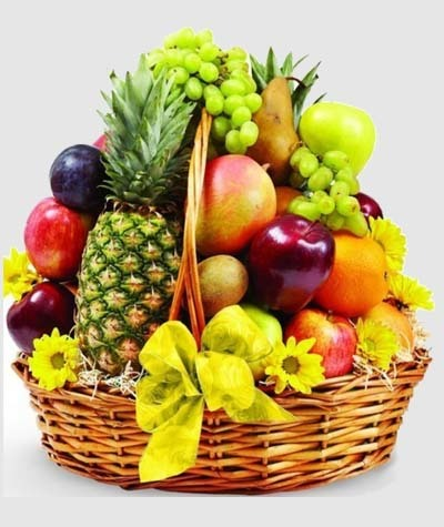 An image of a fresh fruit basket