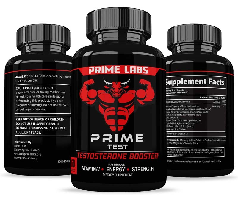 An image showing Prime Labs Men's Testosterone Booster from all sides