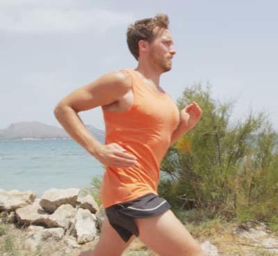 An image of a man running