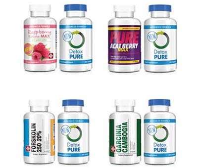An image of all weight loss products by Bauer-Nutrition
