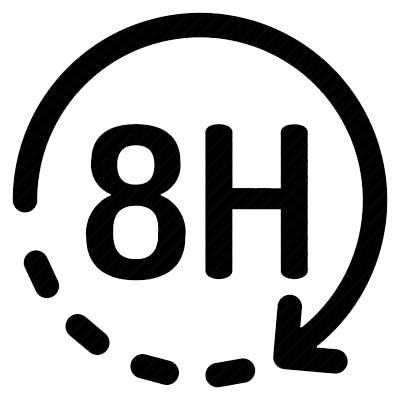 An image of 8 hours icon